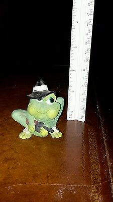 Sprogz Mobster Frog Figurine Perfect shape Very funny 1994