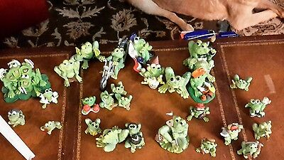 5 Sprogz small Frog Figurines very funny 1994 Holland Studio Crafts HSC