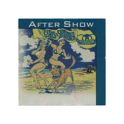 Aerosmith authentic Aftershow 2002 tour Backstage Pass