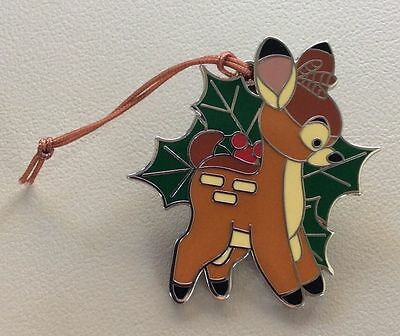 Disney Pin Ornament Christmas Mystery Woodland Winter Bambi LR