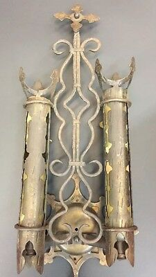 Antique Church Light Gothic Spanish Revival Wall Sconce