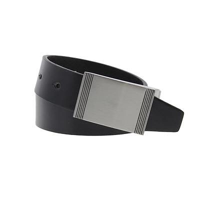 Steve Madden 5030 Mens Black Faux Leather Reversible Casual Belt 36 BHFO