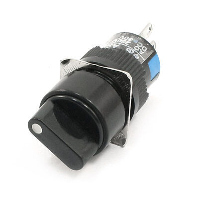 Panel Mount Rotary Cam Control 3P 2 Position Locking SPDT Switch