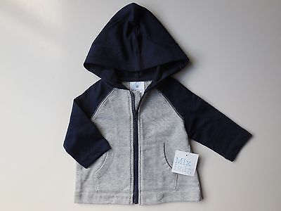 Baby Boy Lightweight Zip Hoodie Jacket Size 000 Fits 0-3M *new