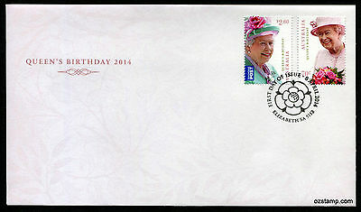 2014 Queen's Birthday QEII FDC First Day Cover Stamps Australia