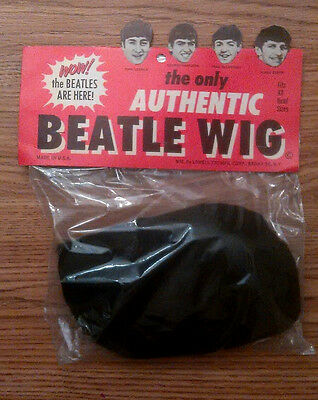 """""""the only Authentic Beatle wig"""" Mint in package from 1964 Lowel Corp. N.Y. WOW"""