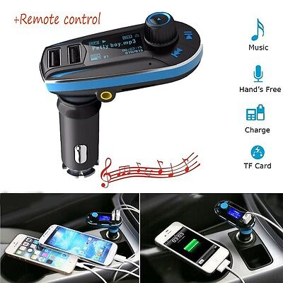 Bluetooth Wireless Car Charger Kit Audio MP3 Player Radio FM Transmiter Dual USB