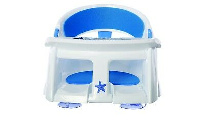 DreamBaby Deluxe Bath Seat with Foam Padding and Heat Sensor - White & Blue