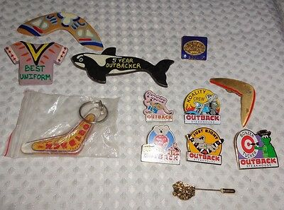 Lot of Outback Steakhouse pins & keychain L@@K!