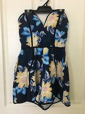 Womens Strapless Floral Playsuit Size 10