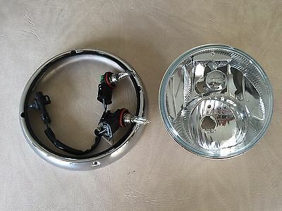 Harley 2014-2016 Oem Touring New Take Off Headlight With Low And High Beam Bulbs