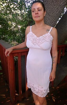 Vintage Aristocraft by Superior Nylon Lace Slip 36 Large Exquisite Satin Lace