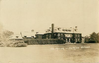 A View of the Manor, Perkins School, Lancaster MA RPPC