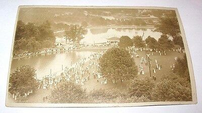 c. 1910s Real Photo Postcard, Willow Grove Park, PA from the Air in Summer