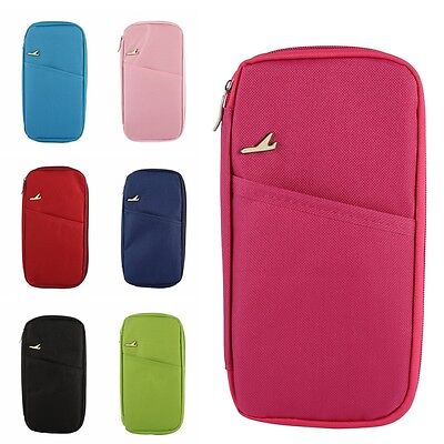 Multifunction Travel Passport Polyester Credit Card ID Wallet Holder Storage Bag