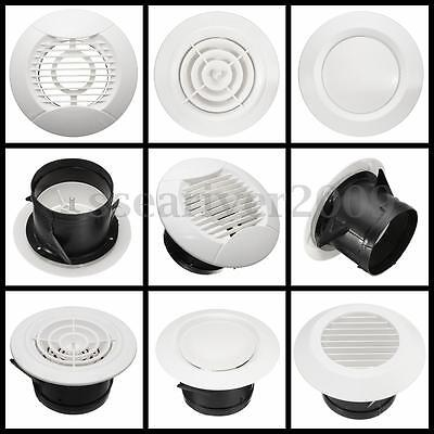 Plastic Air Vent Grille Cover Wall Ventilation Outlet Exhaust Grille Round 100mm