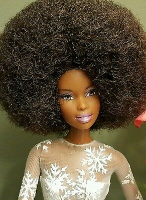 GORGEOUS OOAK AFRICAN AMERICAN BARBIE with full AFRO