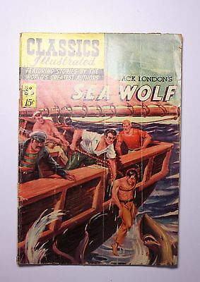 CLASSICS ILLUSTRATED #85 SEA WOLF BY: Jack London Good/VG