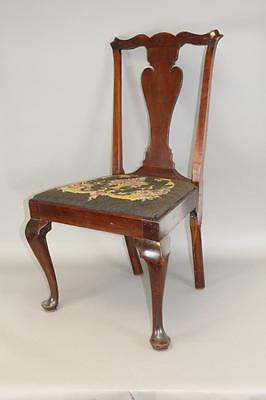 Rare 18Th C Philadelphia Carved Splat Chippendale Chair Cabriole Legs Pad Feet