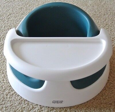 Mamas and Papas Baby Snug With Tray Chair 2 Stage floor support seat Teal