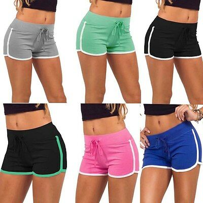 Women Hot Pants Sports Shorts Workout Waistband Summer Fitness Yoga Short