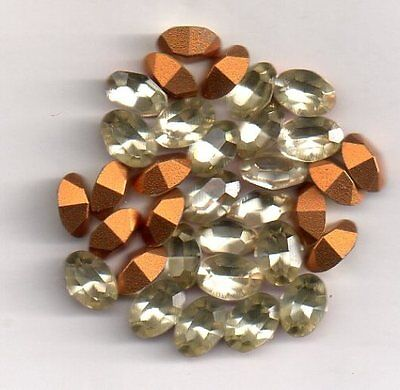 Strass Ovale 7/5 -  4100   Ovale 7/5 - 10 Jonquille - Goldfoiled
