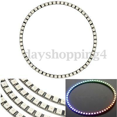 Ring Wall Clock 60 LED WS2812 RGB HID Bright 5050 SMD Light Panel For Arduino UK