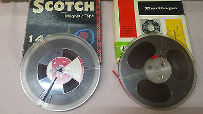 "PACK 2 BOBINE VINTAGE DA 7"" 3/4  REEL TO Reel TAPES USED.   (Lotto:1)"