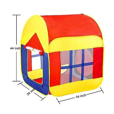 Kids Pop Up Play Tent Baby Playhouse Game Playhouse Outdoor Indoor Use