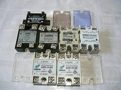 7X Solid State Relay input  3,4,5-32 or 5-24 VDC / AC/DC TO AC, DC TO DC,10-40A