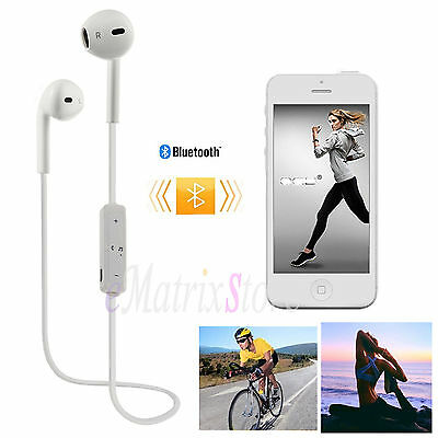 Wireless Sports Bluetooth Stereo Headset Headphone Earphone For iPhone 6 6s Plus