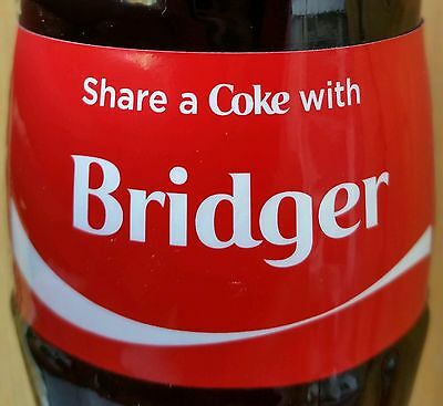 Share A Coke With Bridger Personalized 8 oz Coca Cola Collectible Glass Bottle