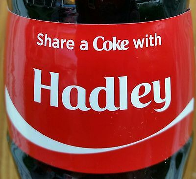 Share A Coke With Hadley Personalized 8 oz Coca Cola Collectible Glass Bottle