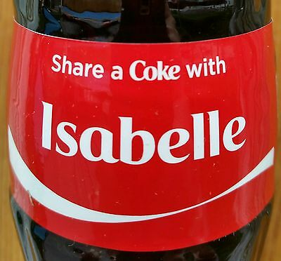 Share A Coke With Isabelle Personalized 8 oz Coca Cola Collectible Glass Bottle