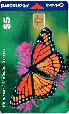 Telstra Phonecard, $5 Viceroy Butterfly, chip, smartcard,  Rare, Used, Australia