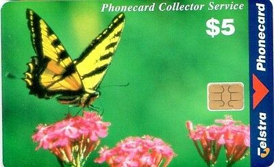 Telstra Phonecard,$5 Swallowtail Butterfly, chip, smartcard,Rare,Used,Australia