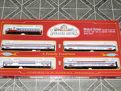 James E Strates Shows Ho Scale Train Set With Track & Power Pack New In Set Box