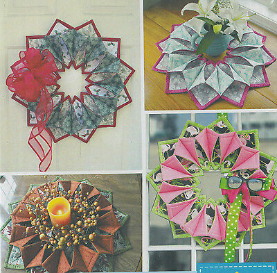 PATTERN - Fold N Stitch Wreath - fun seasonal wreath or table topper PATTERN