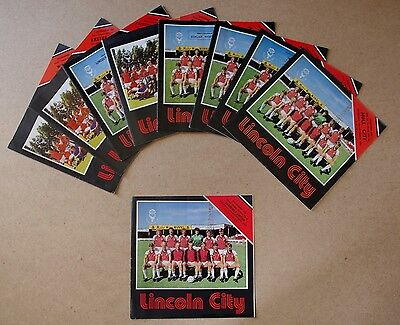 10 x Lincoln City Football Programmes (Home Matches) -  Division 3 - 1983/84