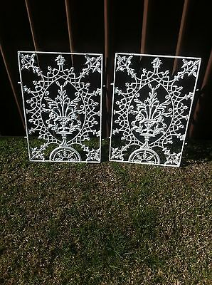 2 wrought iron grills