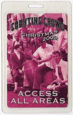 Counting Crows authentic 2003 concert tour Laminated Backstage Pass