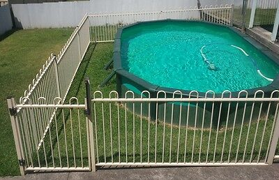 Above ground pool, fences, pump, waterco sand filter, pool cleaner etc.