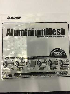 ALUMINIUM REINFORCING MESH FOR CAR BODY FILLER BOAT (25 x 20 Cms) UPOL'S ISOPON