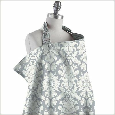 Bebe Au Lait Premium Cotton Nursing Cover Chateau Silver Machine Washable 100%
