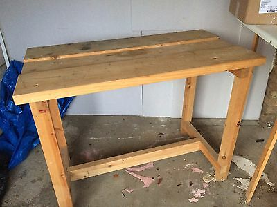 Large sturdy wooden workbench for sale. Collection only.