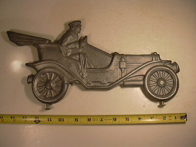 New old Stock (NOS) Cast aluminum car with driver for weathervane.
