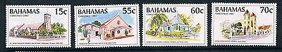 Bahamas 1995 Christmas Churches SG 1052/5 MNH