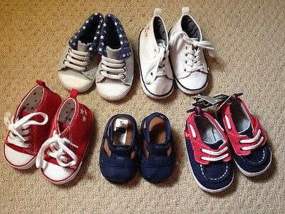 Baby Boys Shoes Bundle, (Next,Tu,Disney) Size(s) - 0-3, 12-18 & 6-9 Months