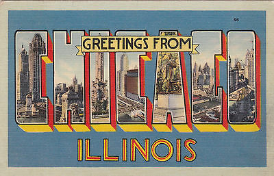 "Large Letter ""CHICAGO"" , Illinois , 1941"