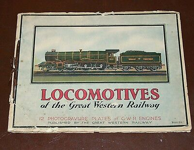 1920s GREAT WESTERN RAILWAY ALBUM CONTAINING ILLUSTRATIONS OF THEIR LOCOMOTIVES